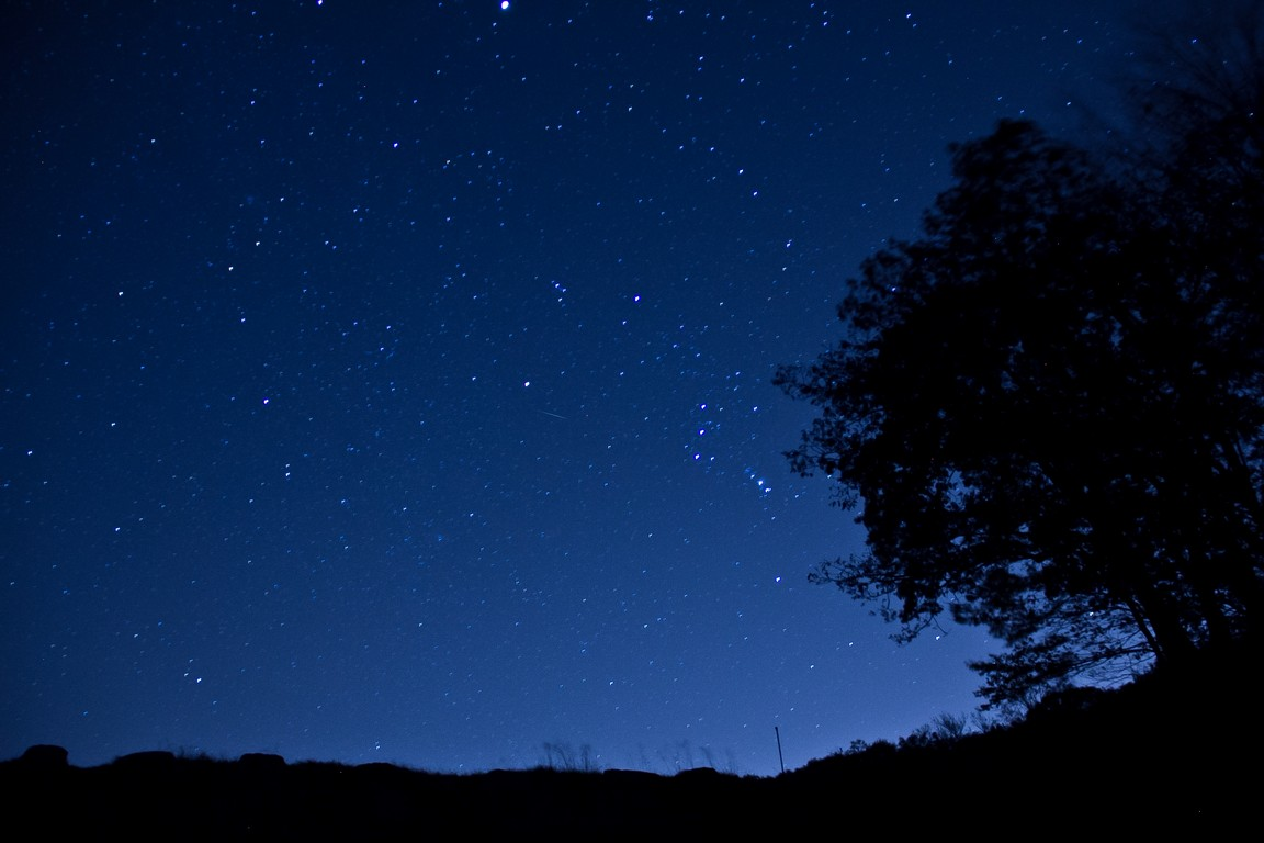 Orionid meteor shower from Bear Mountain