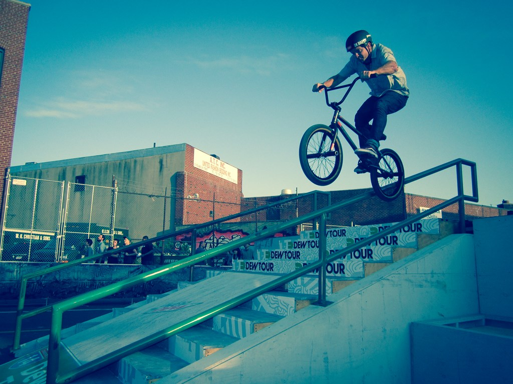 Skateboarding Dew Tour in Brooklyn, NYC