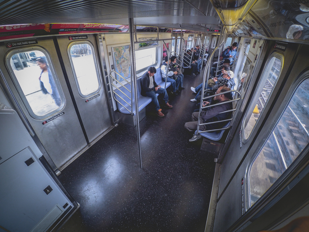 MTA 7 Train GoPro Xiaomi Yi Camera Photography