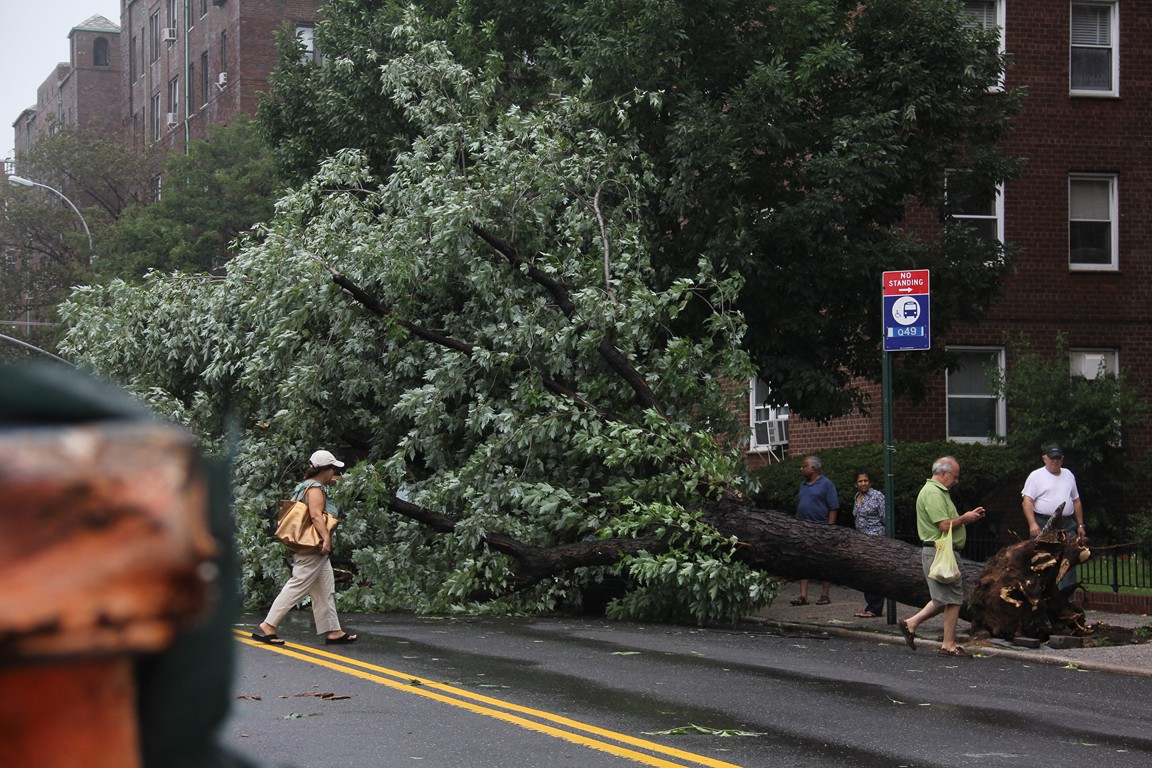 Aftermath of hurricane Irene