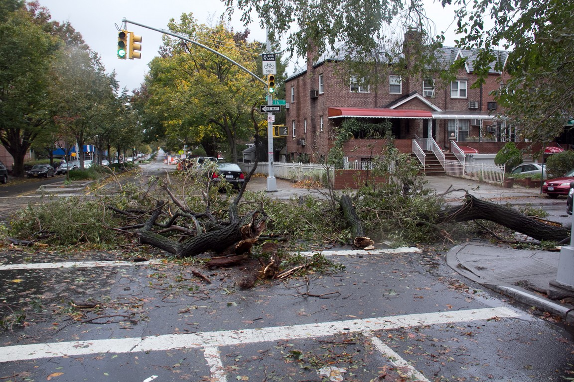 Aftermath of Hurricane Sandy in Queens