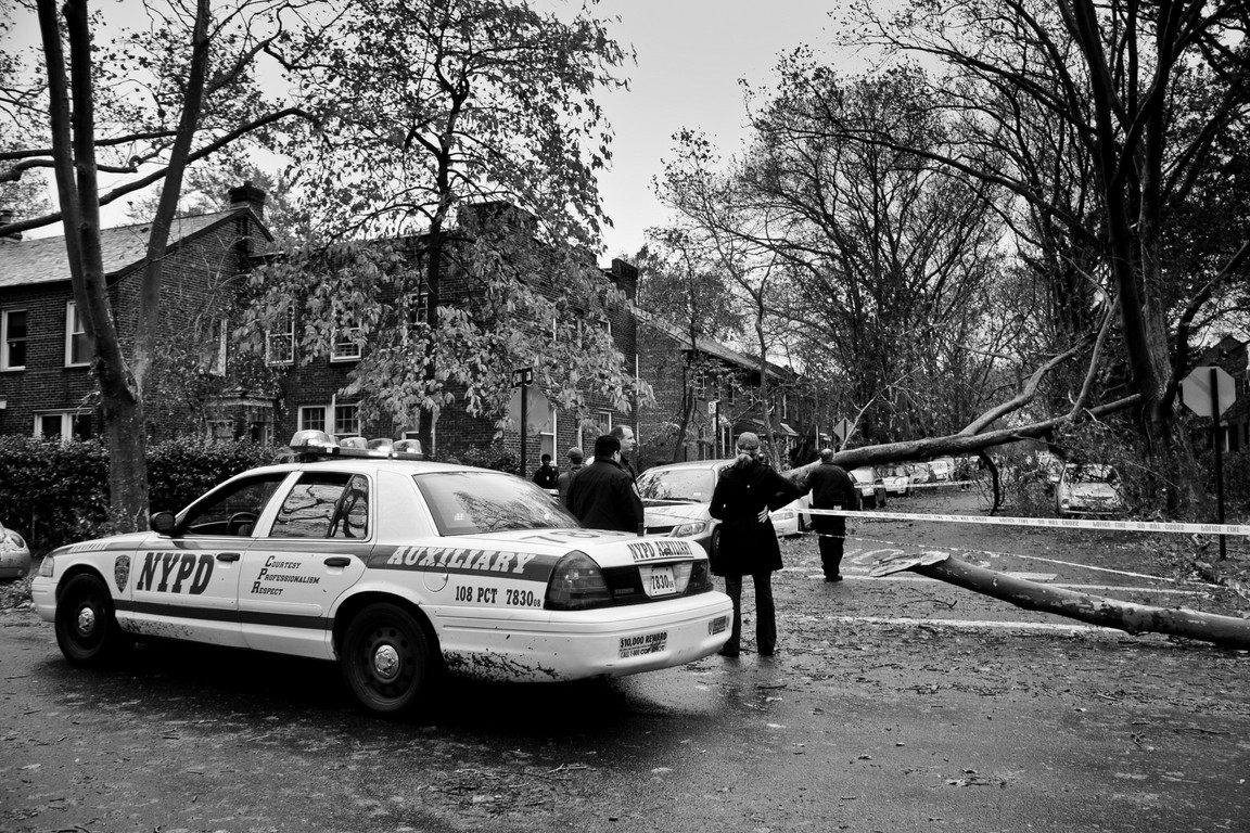 NYPD after Hurricaine Sandy