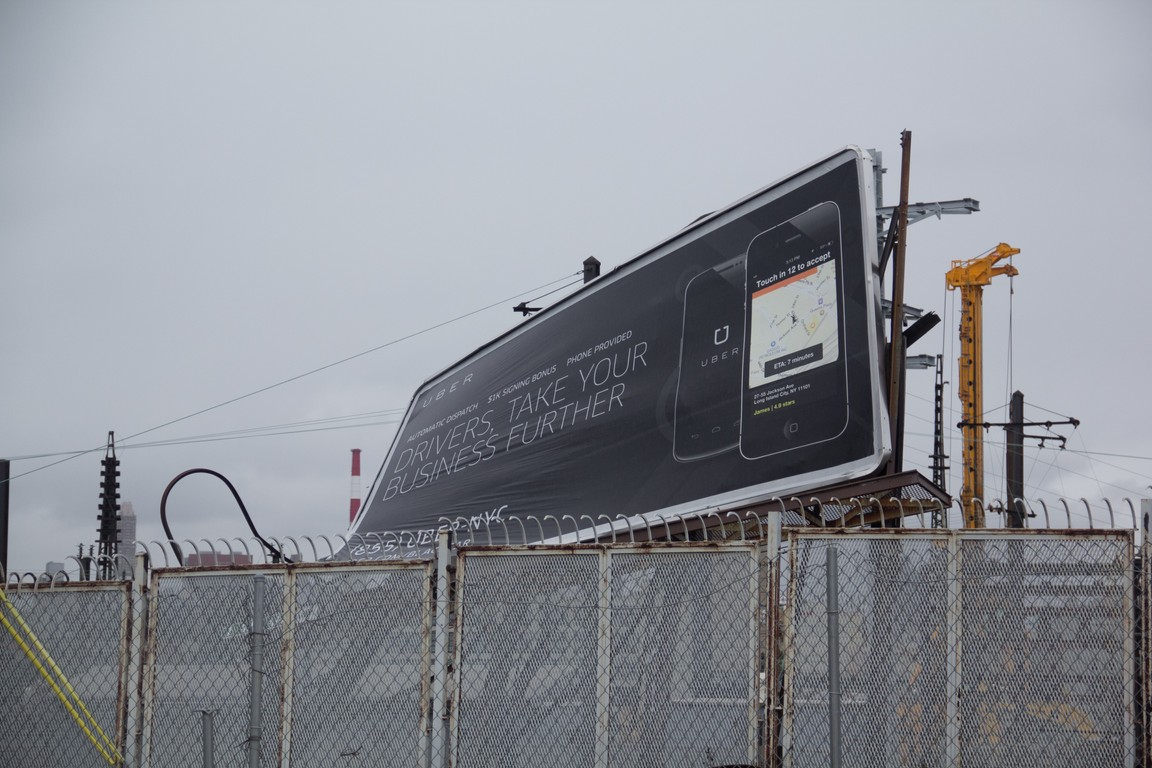 bent sign after the hurricne sandy