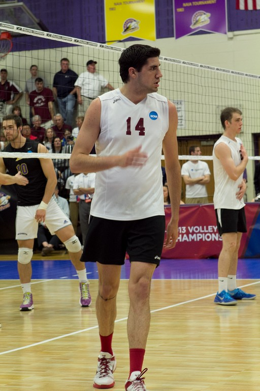 Grey Falcone on the court