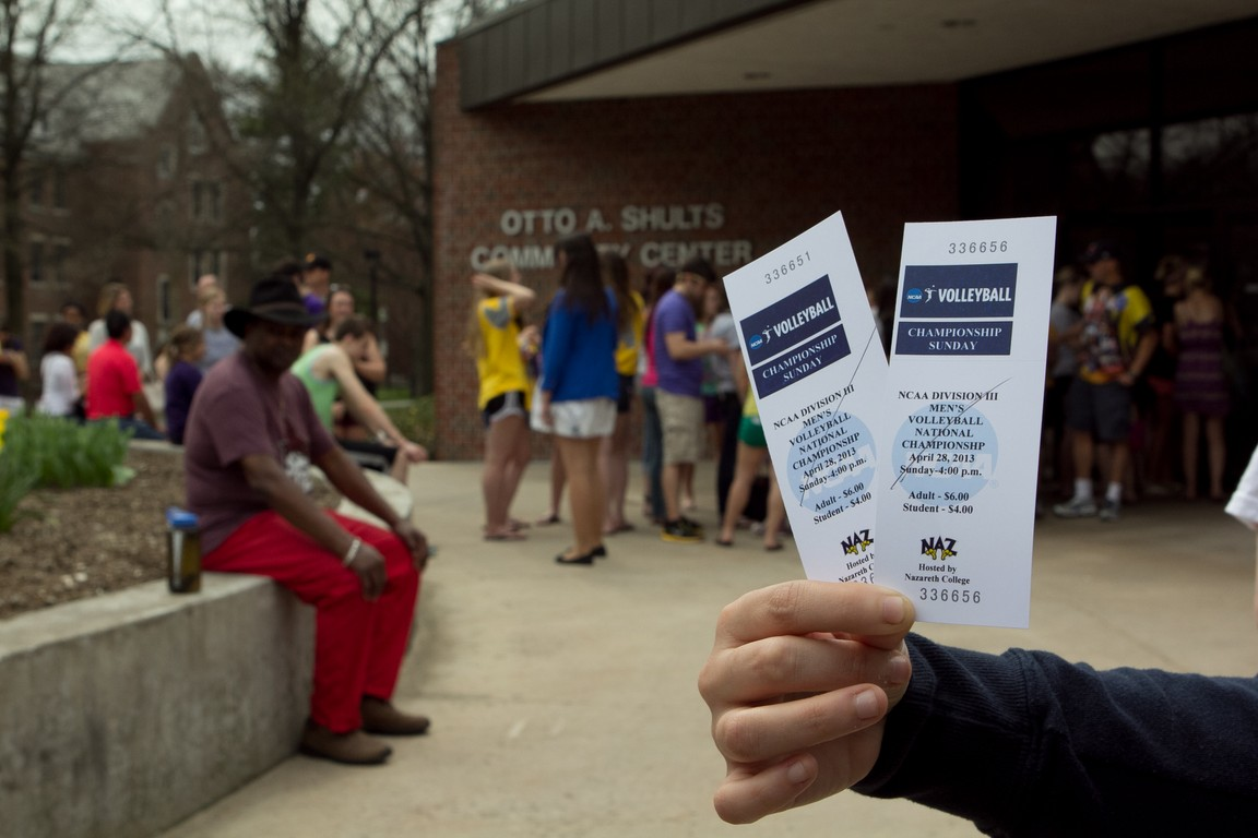 Tickets to the NCAA volleyball game