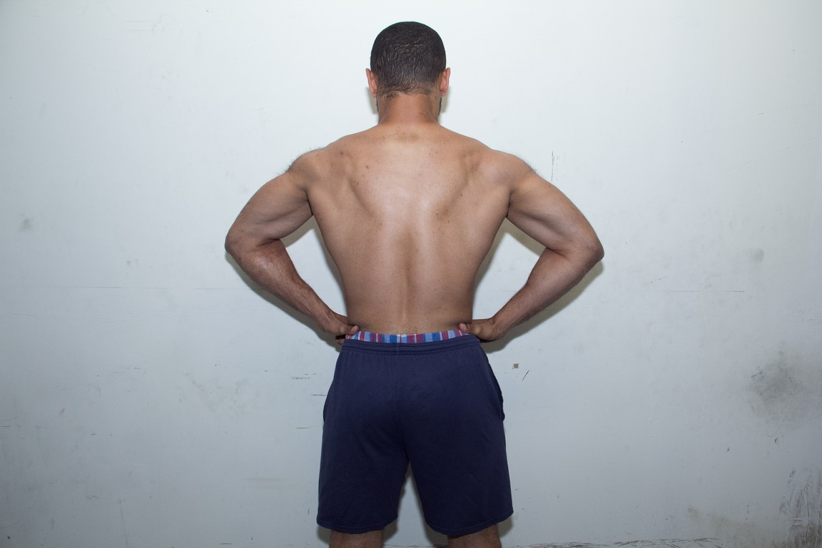rear lat spread after 5 months of bodybuilding