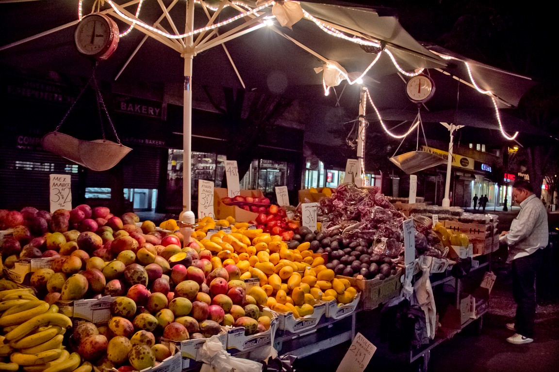 Evening Fruit Stand