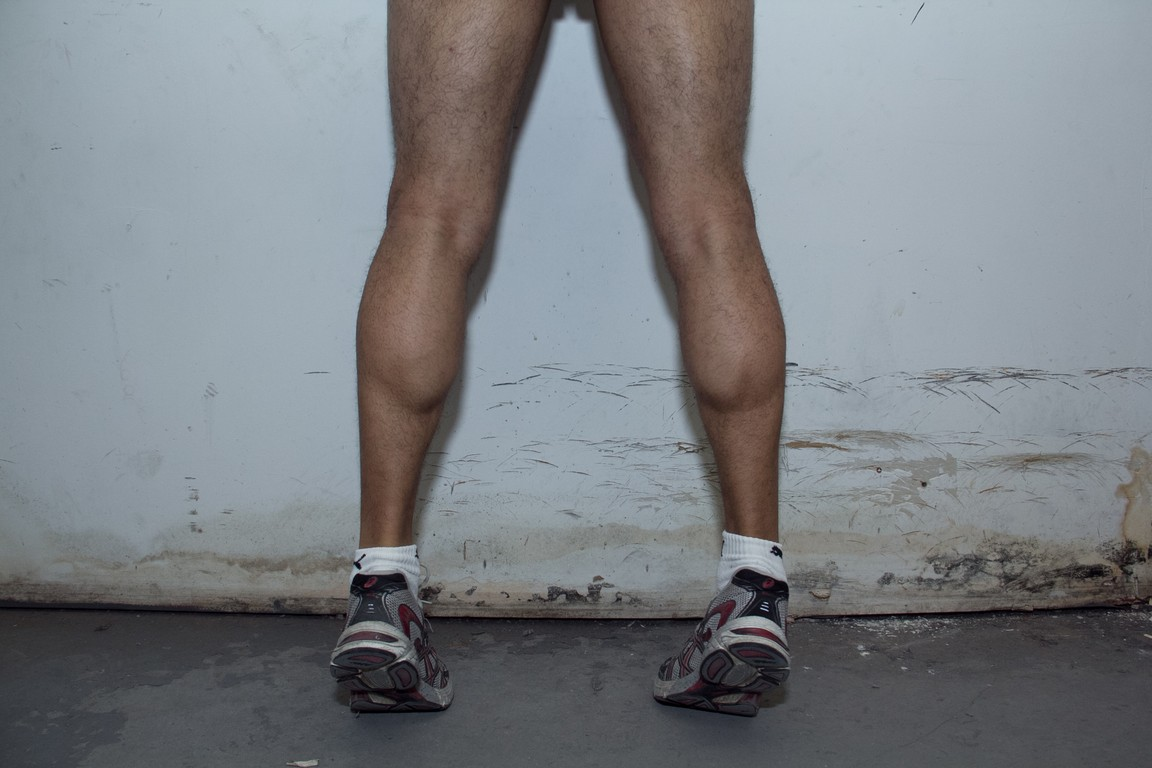 calves after 6 months in the gym