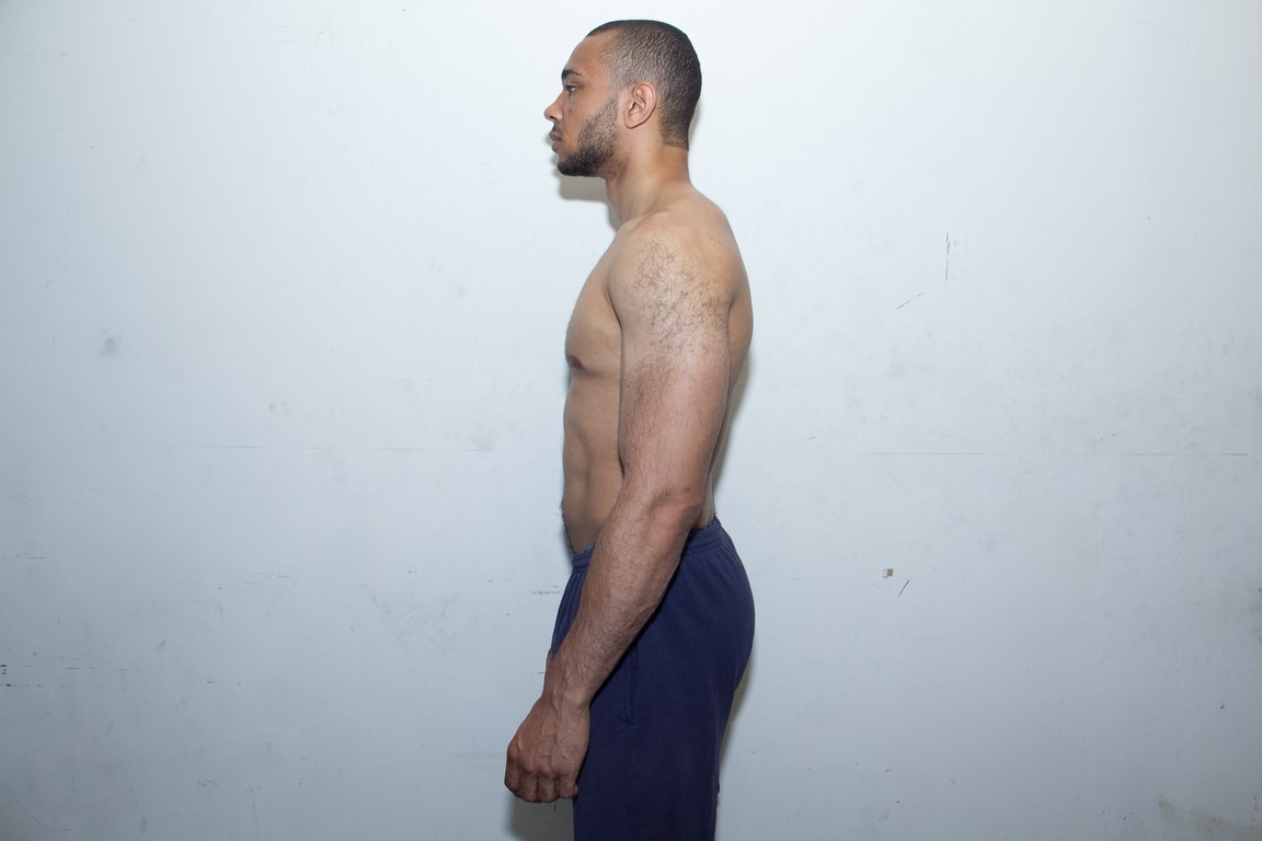 left side of body after 6 months in the gym