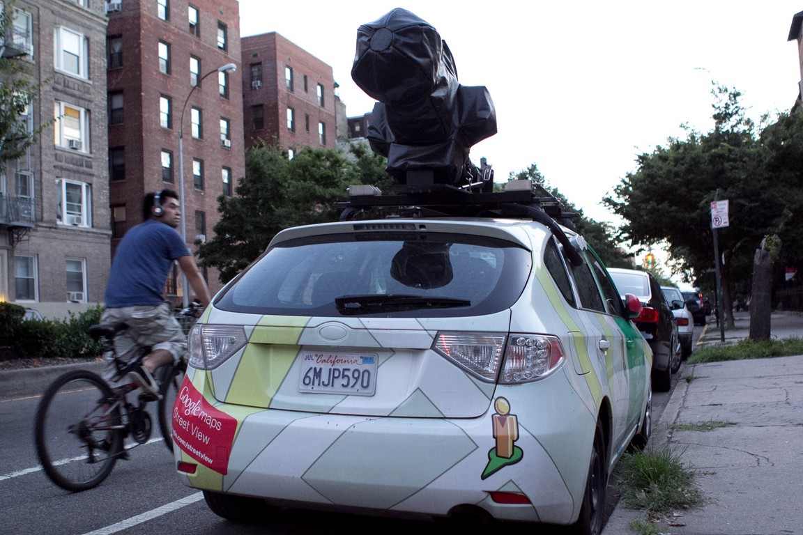Google Street View Car In Jackson Heights New York