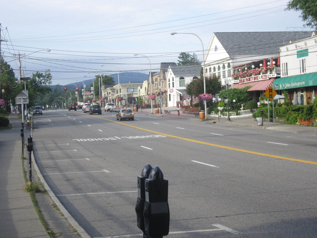 Village of Lake George in the morning
