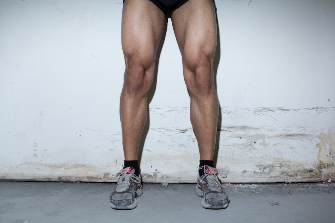 flexed quads after one year of bodybuilding