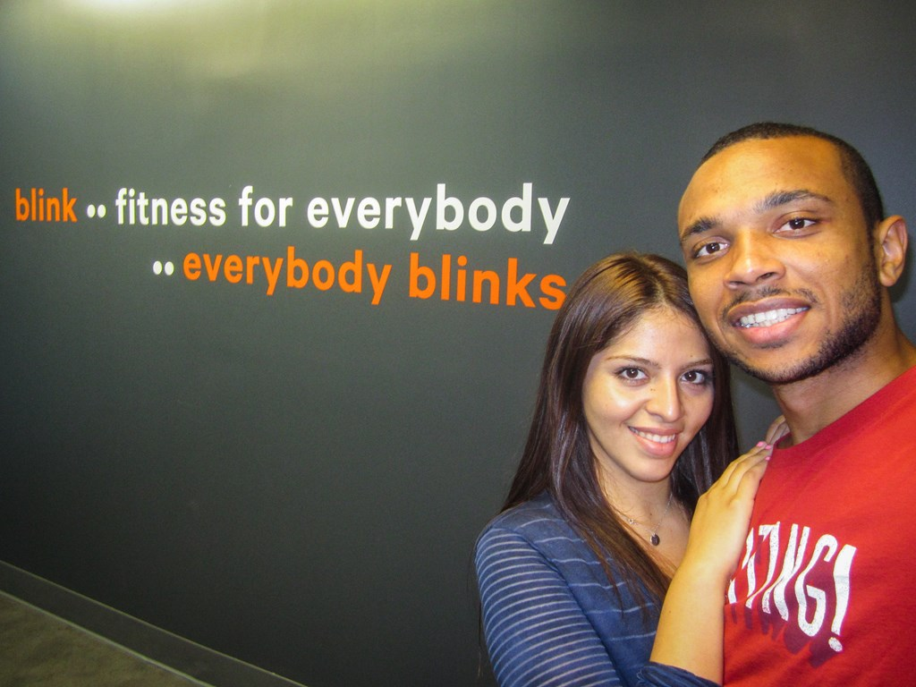 Tania and I in Blink Fitness