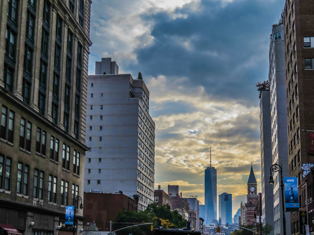 Freedom Tower from 6th Avenue Manhattan Sunset