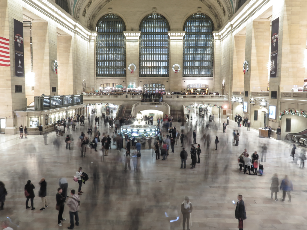 People in Grand Central Terminal