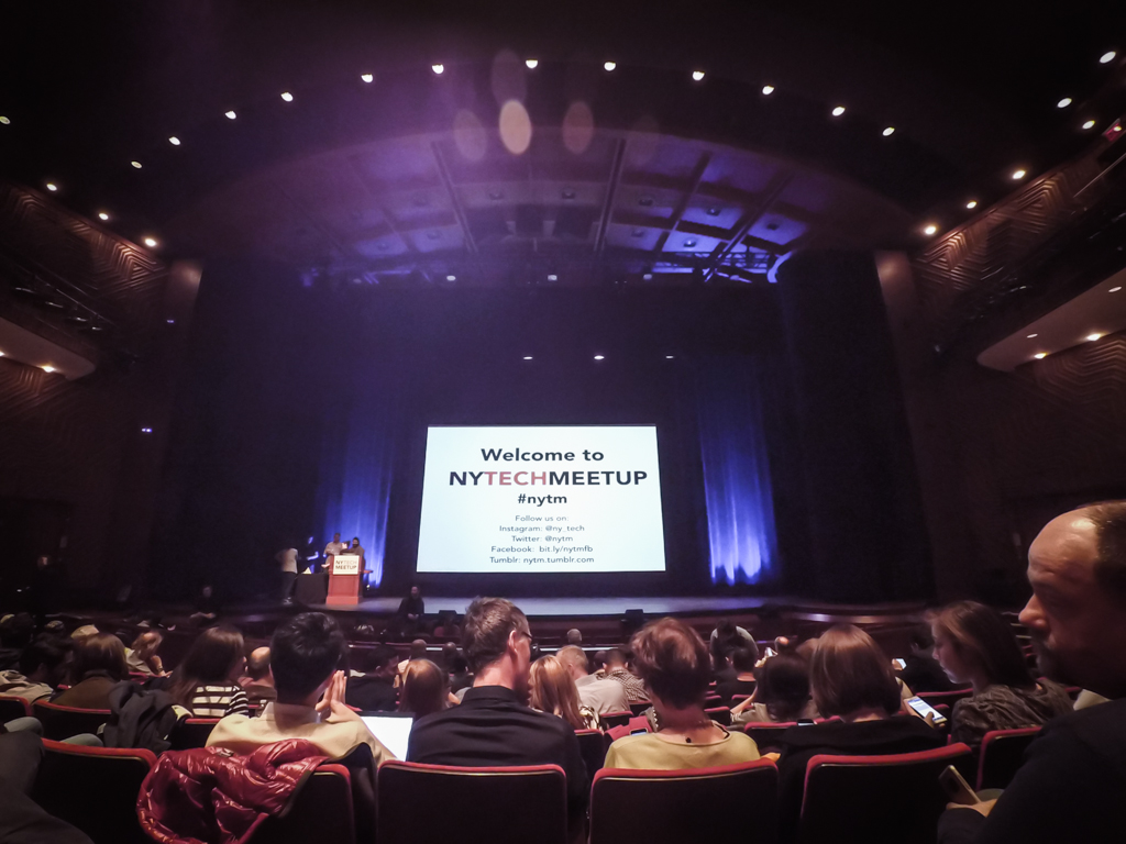 My first NY Tech Meetup at NYU's Skirball Center