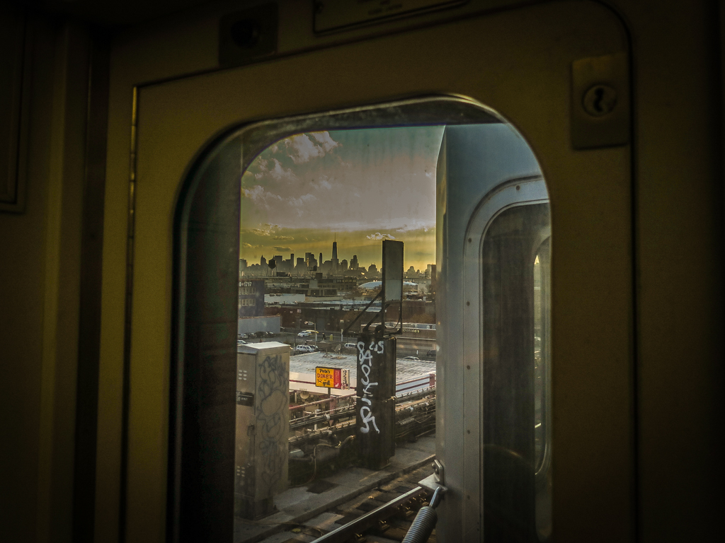 Subway photography of Manhattan in the window
