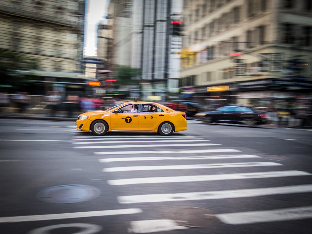 Taxi on 6th avenue