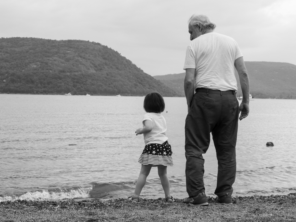 man and granddaughter