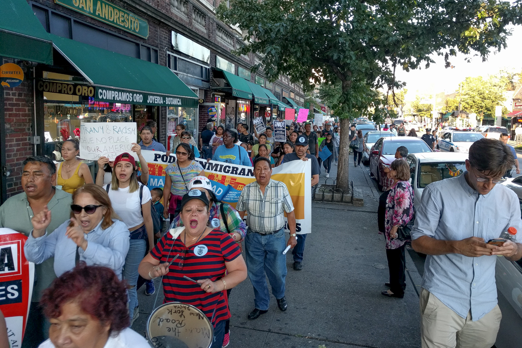 D.A.C.A. protests in Jackson Heights
