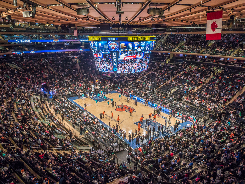 Knicks vs Hornets (124-101) MSG Arena